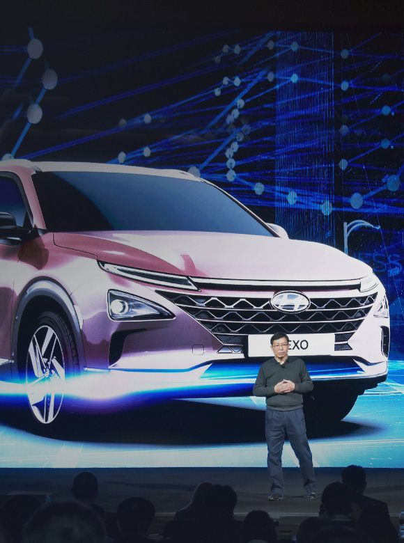 Hyundai Motor at 2018 CES Reveals Next Hydrogen Fuel-Cell SUV