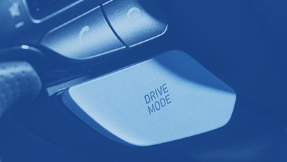 detailed view of drive mode button