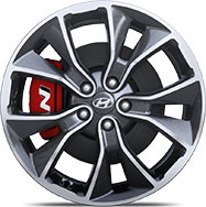 19 inch alloy wheel of i30N performance package.