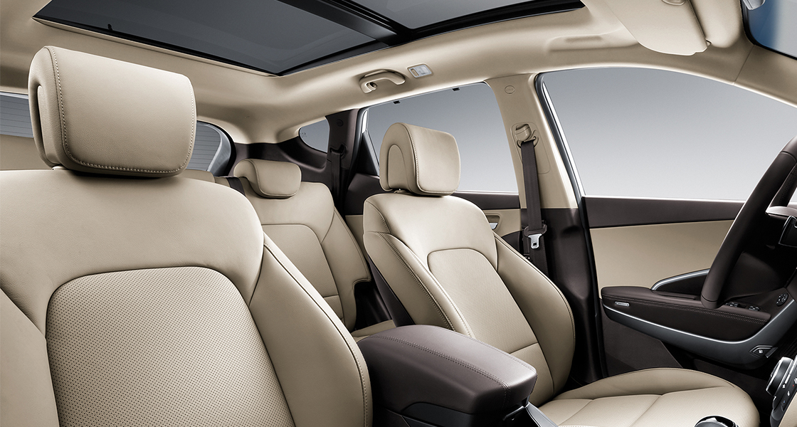 Beige color seats interior