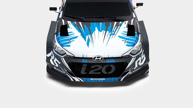 front view of the head of i20 R5
