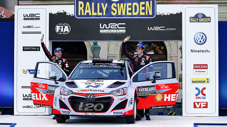 the first podium 2015 rally sweden of thierry neuville and nicolas gilsoul